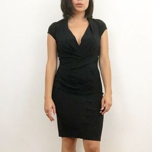 Helmut Lang Black Ruched Dress